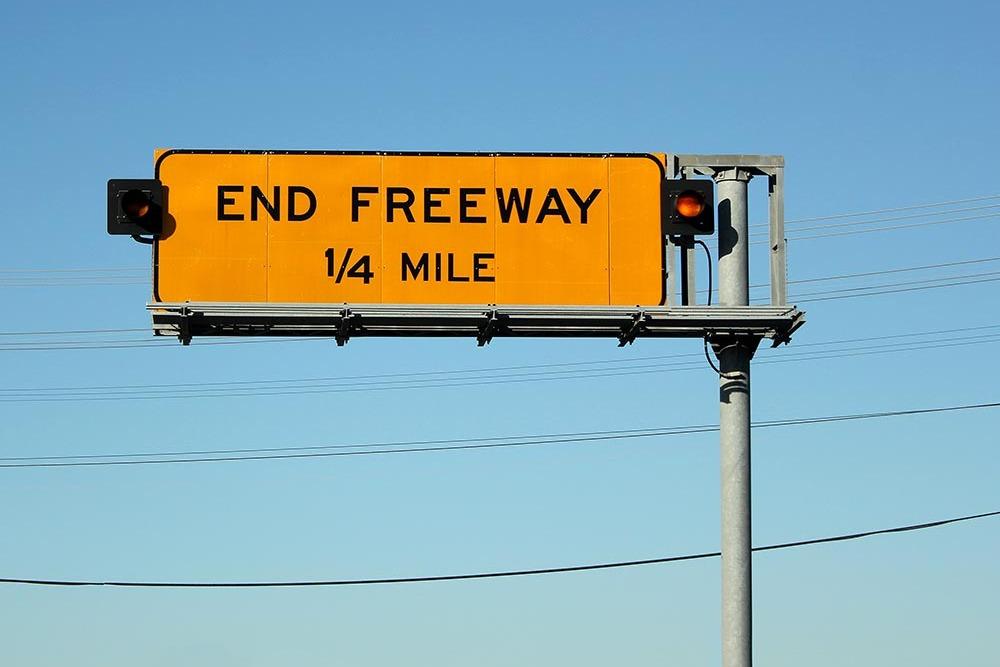 Schild Ende Einbahnstraße Blockadenlösung