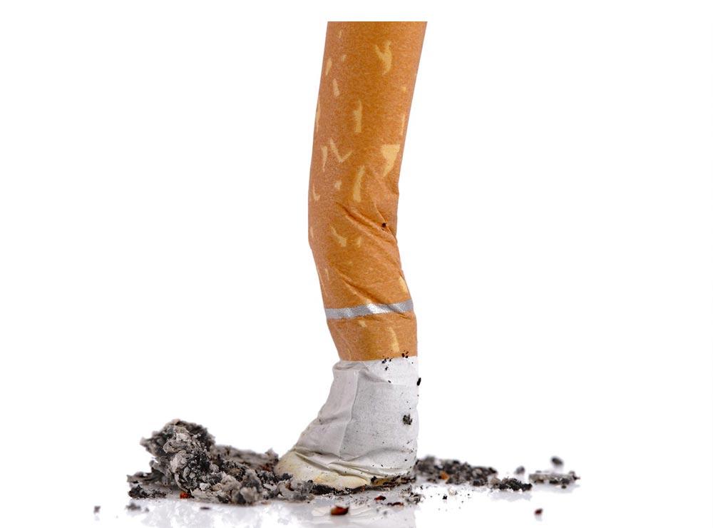 Zigarrette Rauch Ausdrücken Entwöhnung